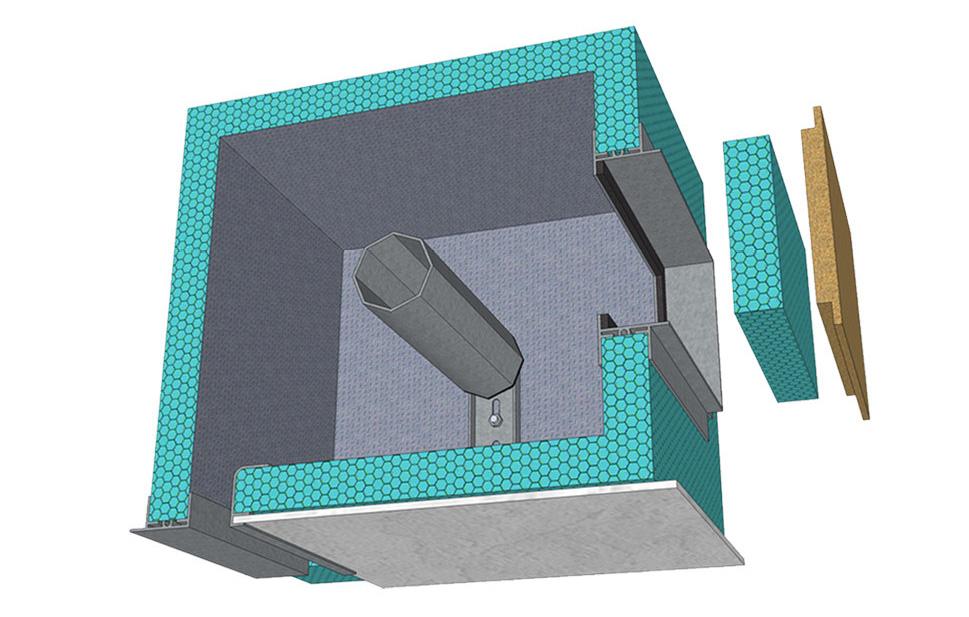Cassonetto isolante per avvolgibile con ispezione interna